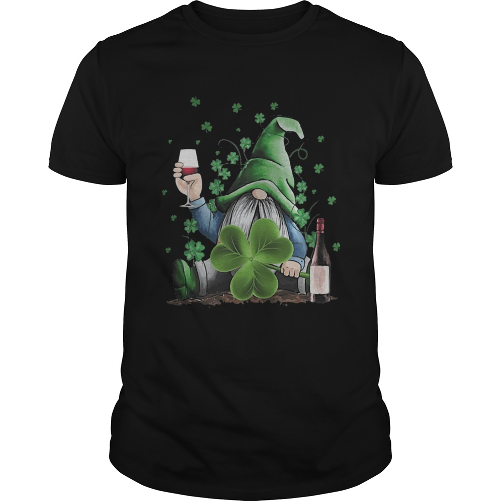 St Patricks Day Gnome Irish Drinking Wine  Unisex