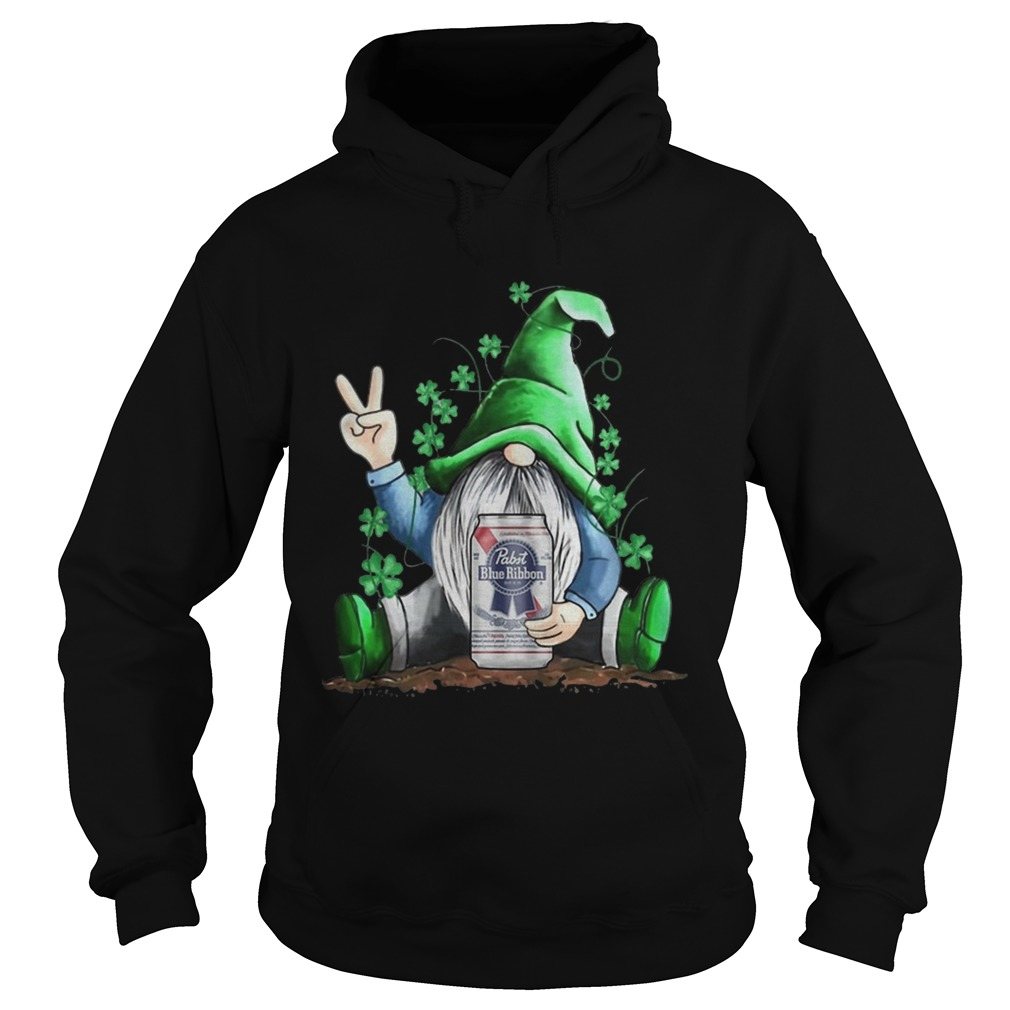 St Patricks Day Gnome Pabst Blue Ribbon  Hoodie