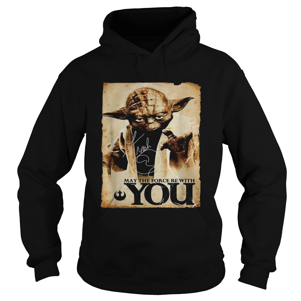 Star Wars Yoda May the force be with you  Hoodie