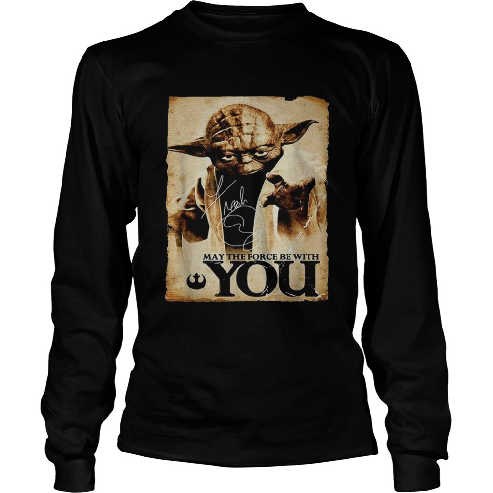 Star Wars Yoda May the force be with you  LongSleeve