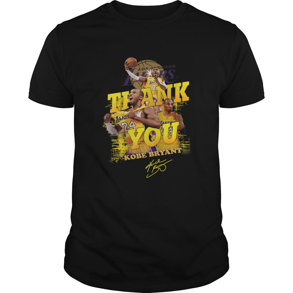 Thank you 24 Kobe Bryant Los Angeles Lakers signature  Unisex
