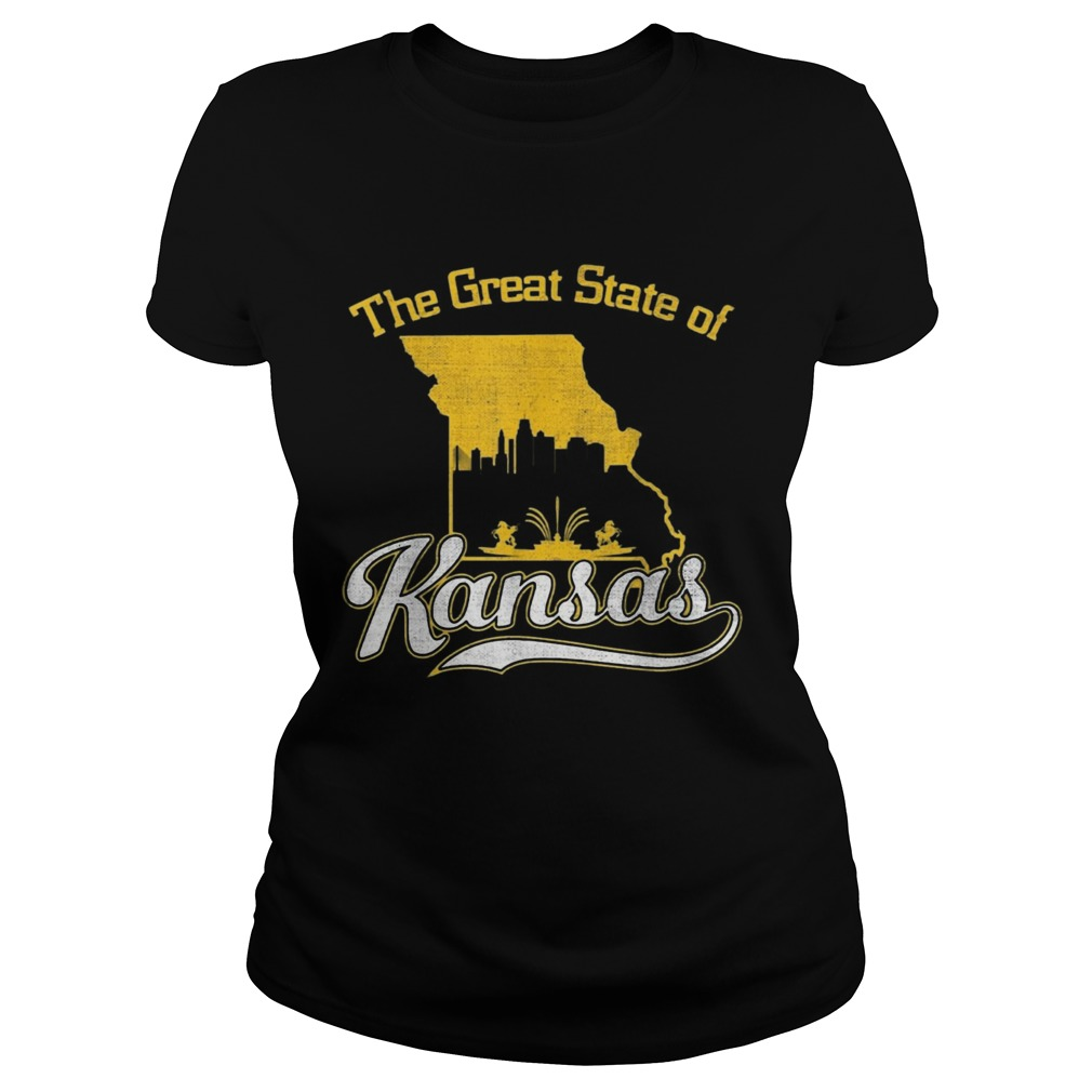 The Great State of Kansas Funny Trump Tweet Missouri Vintage  Classic Ladies