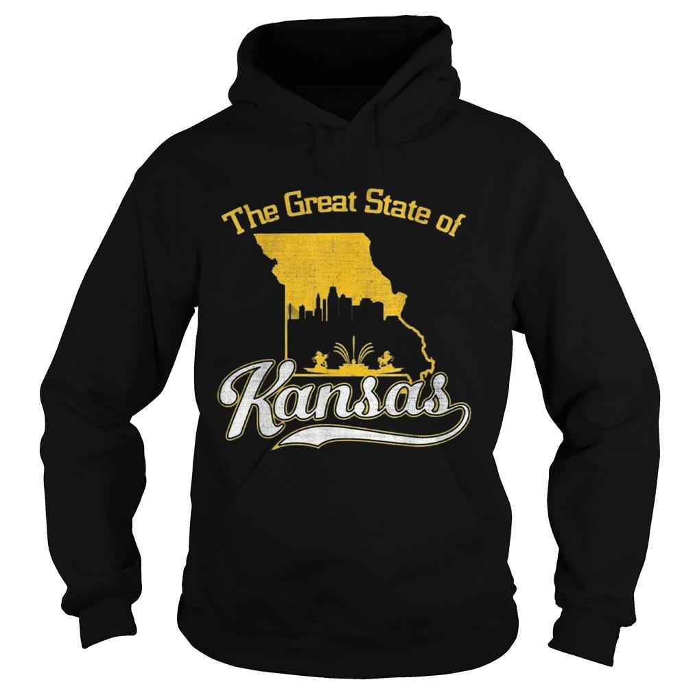 The Great State of Kansas Funny Trump Tweet Missouri Vintage  Hoodie