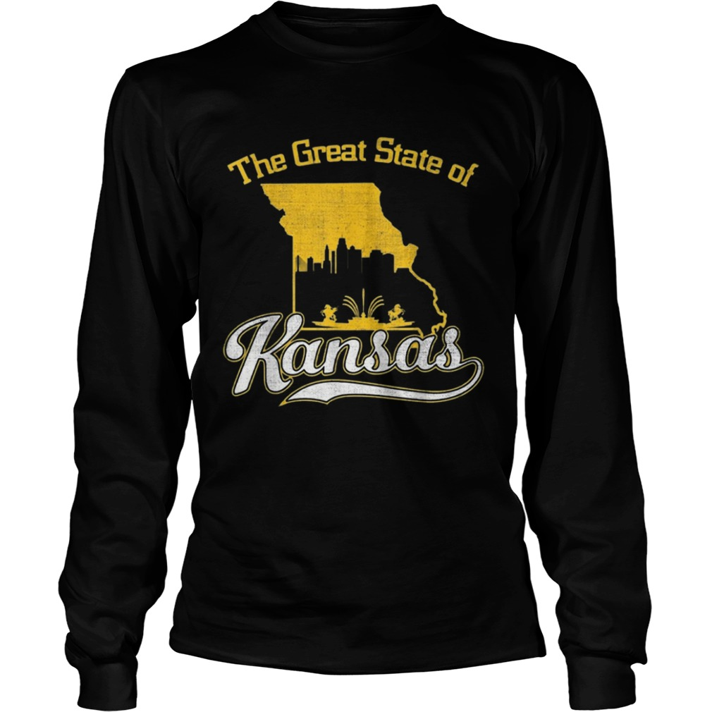 The Great State of Kansas Funny Trump Tweet Missouri Vintage  LongSleeve