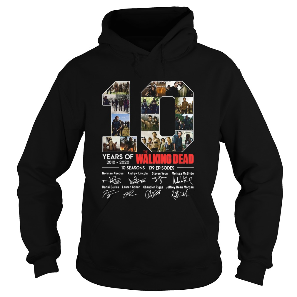 10 Years Of The Walking Dead Signature  Hoodie