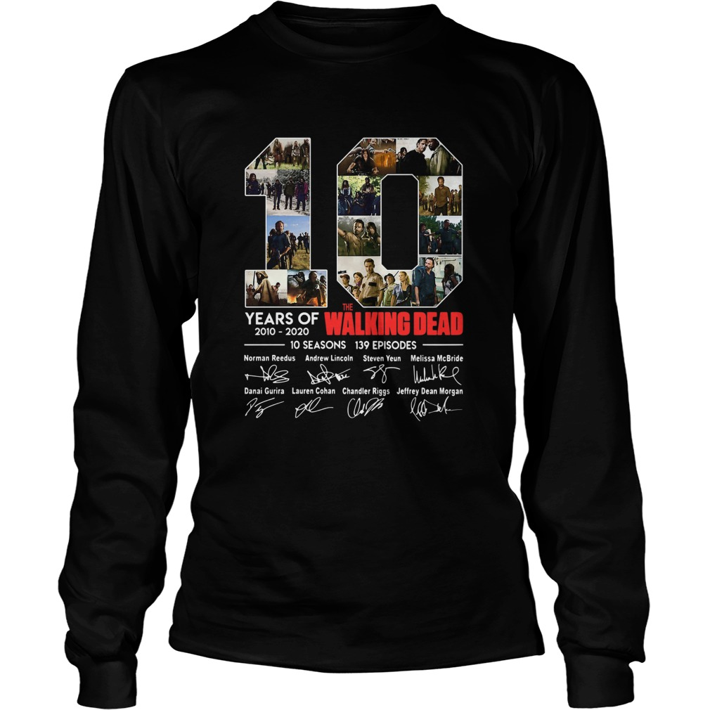 10 Years Of The Walking Dead Signature  Long Sleeve