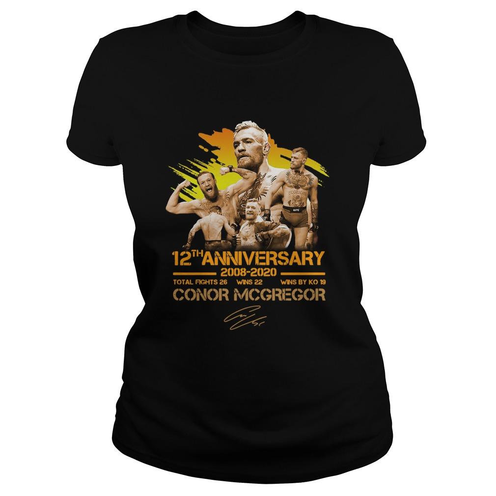 12th anniversary 20082020 Conor McGregor  Classic Ladies