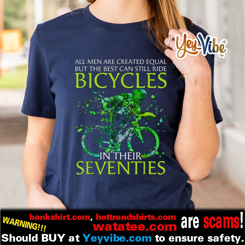 All men are created equal bicycles t shirt