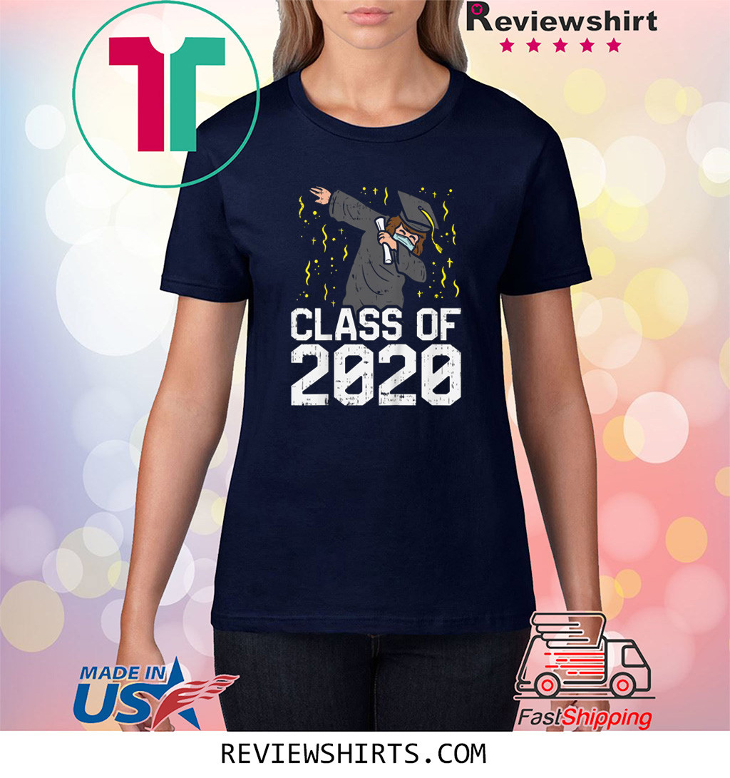 Dabbing Graduate Class Of 2020 Social Distancing Shirt