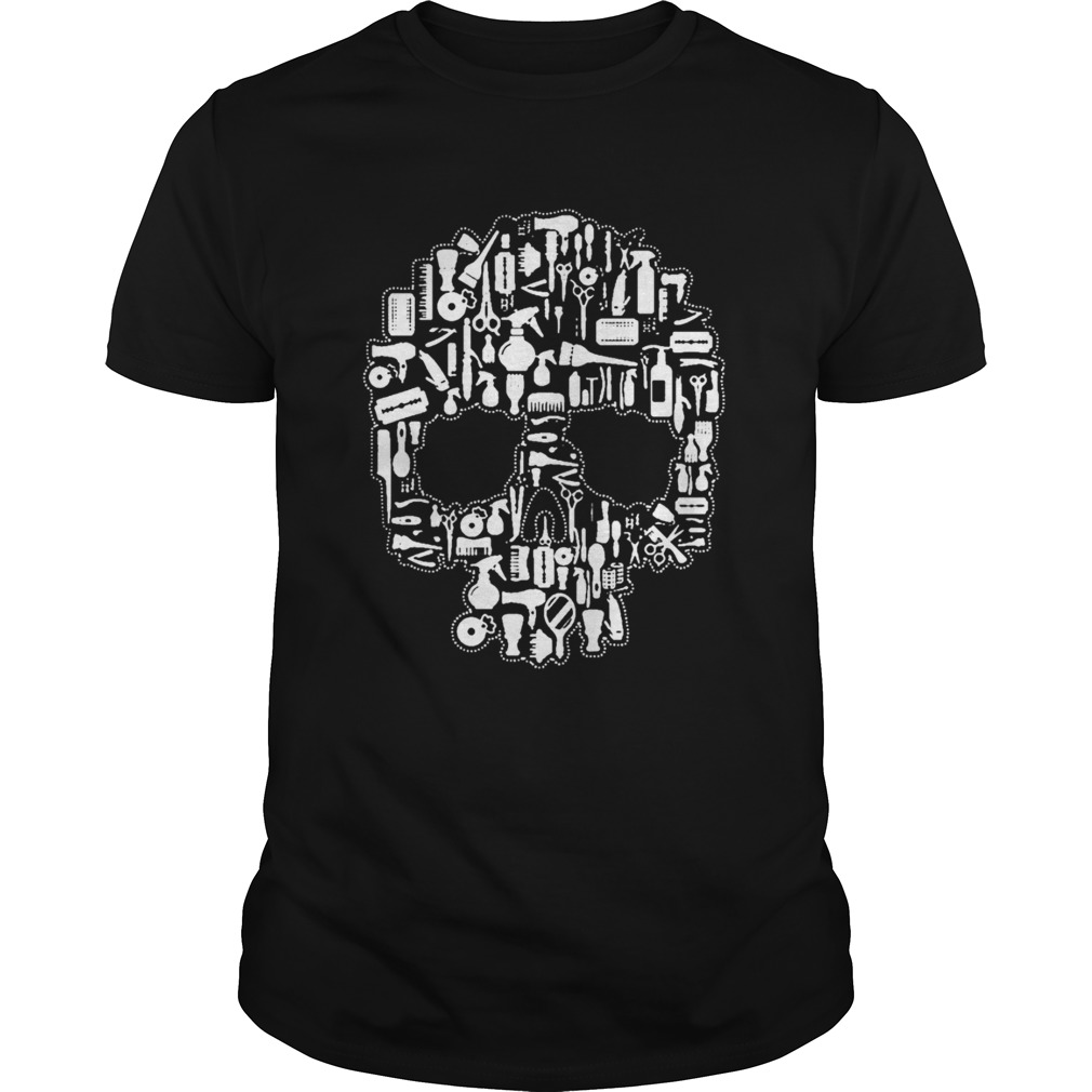 Hair Stylist Sugar Skull TShirt Unisex