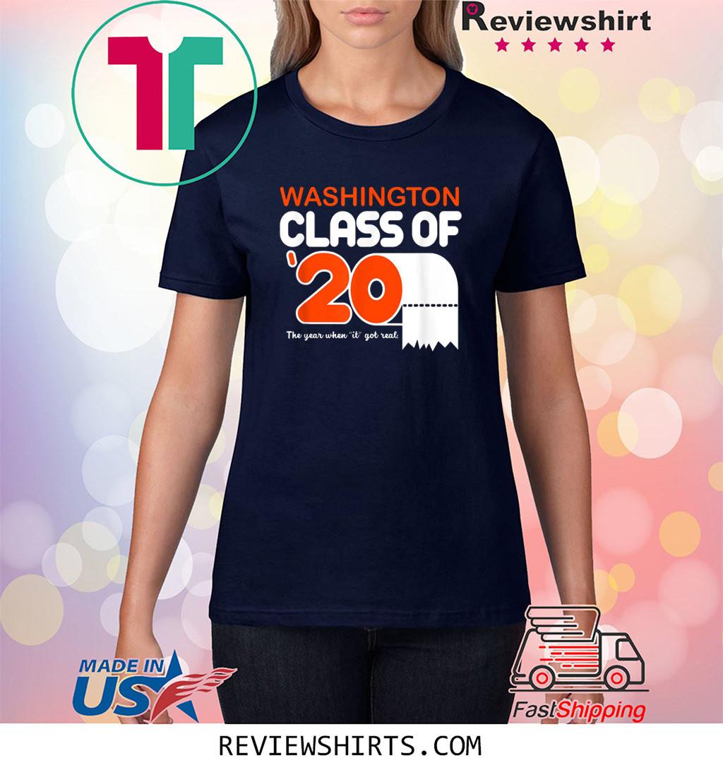 Washington Class Of 2020 Toilet Paper Senior Shirt