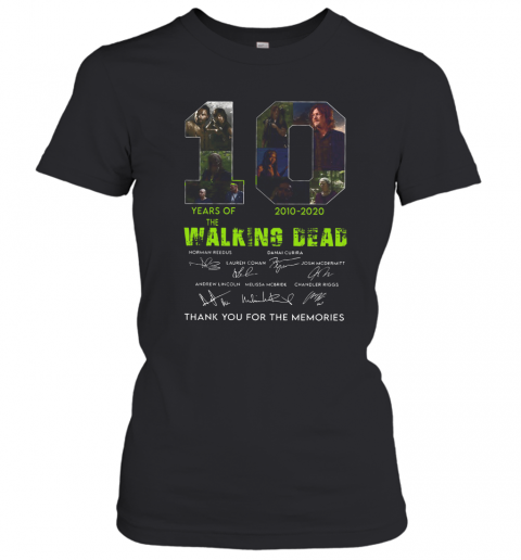 10 Years Of The Walking Dead 2010 2020 Anniversary T-Shirt Classic Women's T-shirt