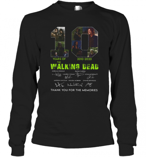 10 Years Of The Walking Dead 2010 2020 Anniversary T-Shirt Long Sleeved T-shirt