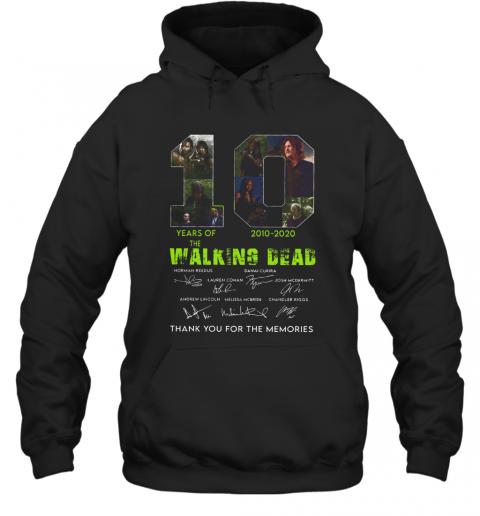 10 Years Of The Walking Dead 2010 2020 Anniversary T-Shirt Unisex Hoodie