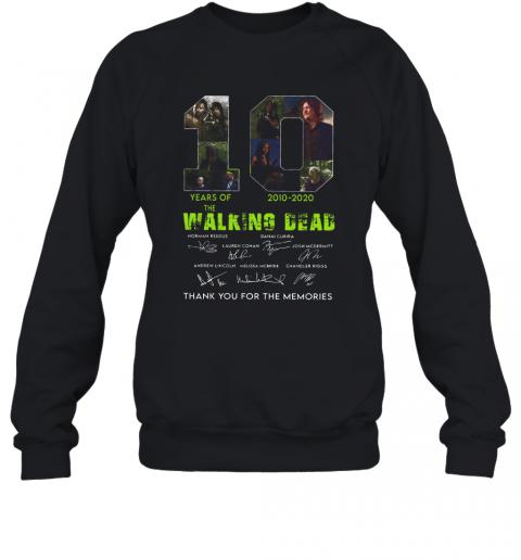 10 Years Of The Walking Dead 2010 2020 Anniversary T-Shirt Unisex Sweatshirt