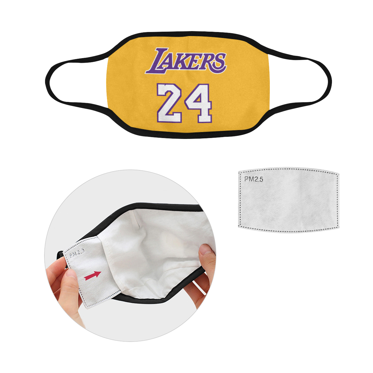 Los Angeles Lakers Kobe 24 Face Mask
