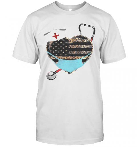 Heart Stethoscope Nurse Leopart Covid 19 T-Shirt Classic Men's T-shirt