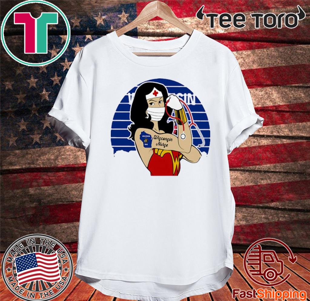 Wonder Woman Tattoos Wisconsin Nurse Covid-19 Vintage T-Shirt