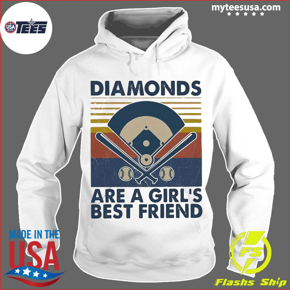 Baseball Diamonds Are A Girl's Best Friend Vintage Shirt Hoodie