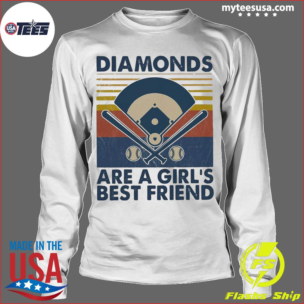 Baseball Diamonds Are A Girl's Best Friend Vintage Shirt Longsleeve