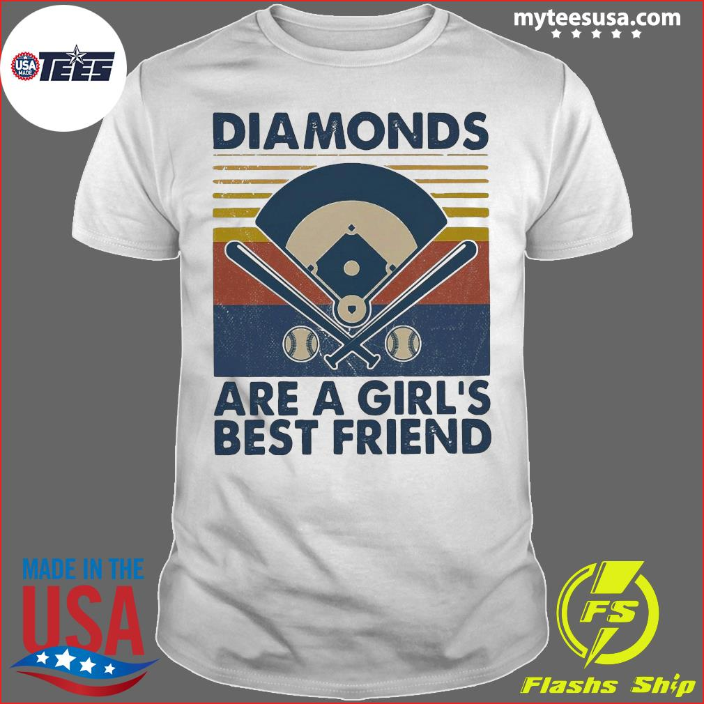 Baseball Diamonds Are A Girl's Best Friend Vintage Shirt