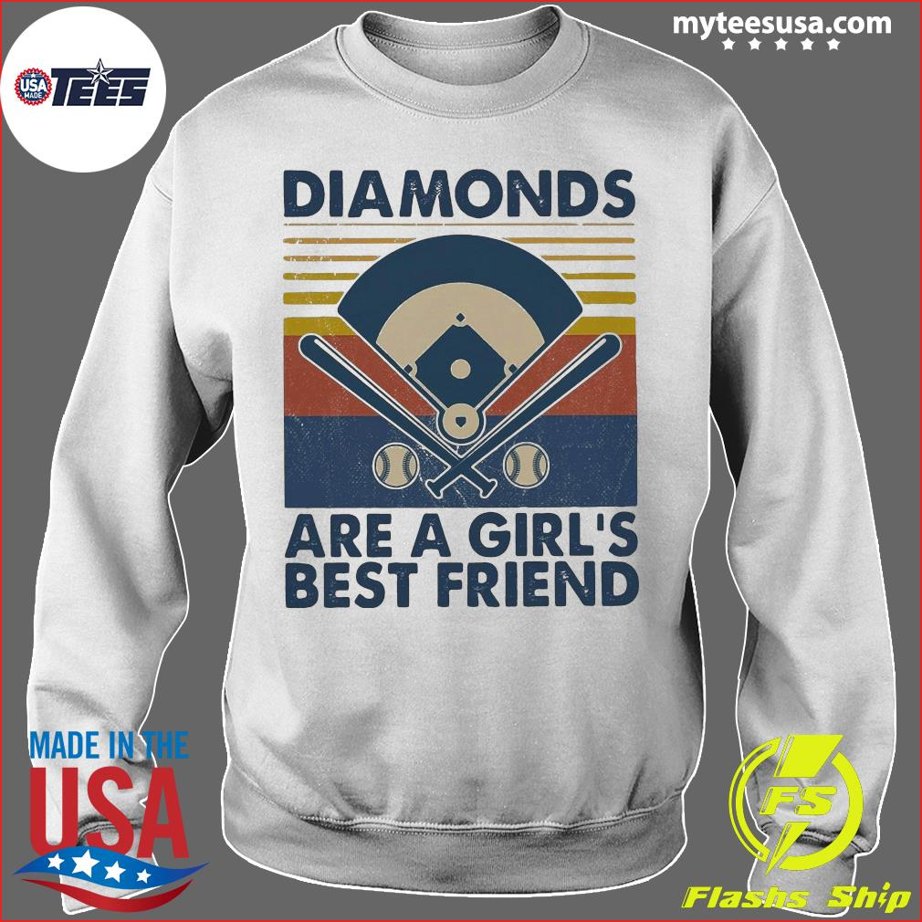 Baseball Diamonds Are A Girl's Best Friend Vintage Shirt Sweater