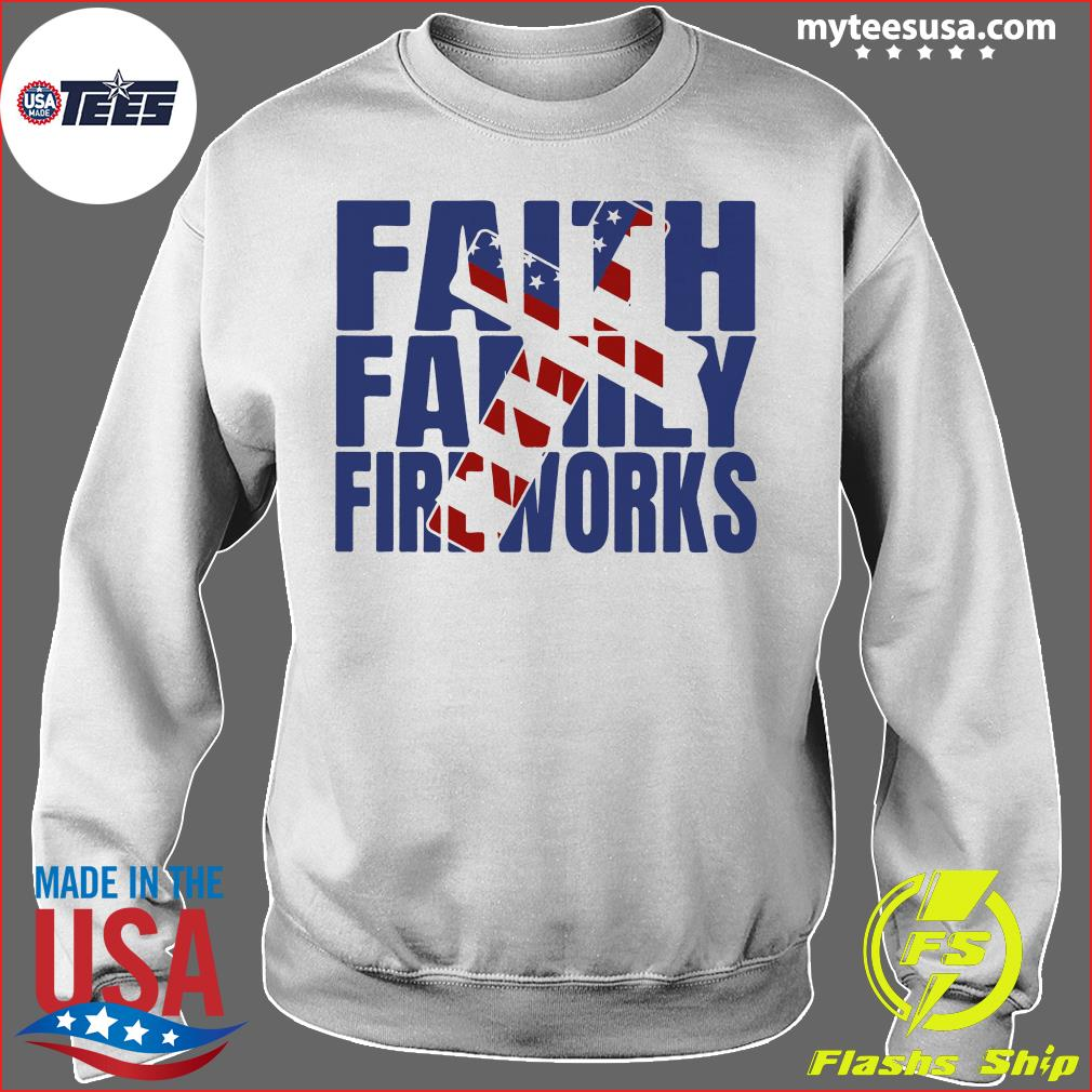 Faith family Fireworks Shirt Sweater