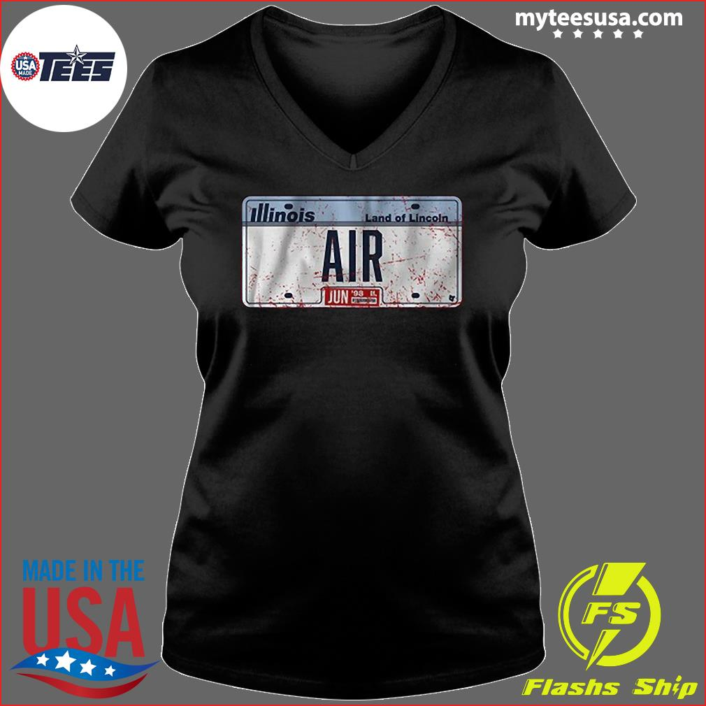 Illinois Land Of Lincoln Air Shirt Ladies V-neck