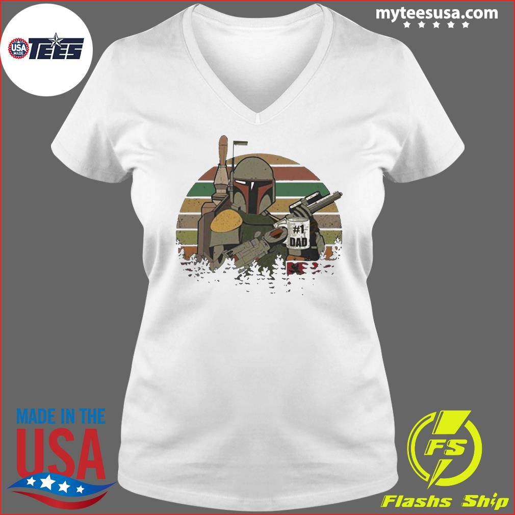 The Mandalorian Number One Dad Father Day Shirt Ladies V-neck
