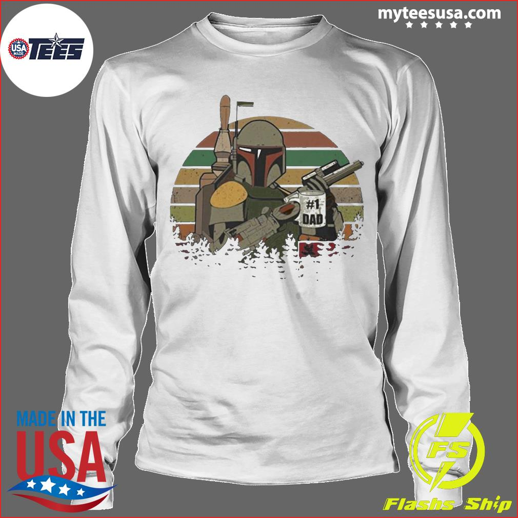 The Mandalorian Number One Dad Father Day Shirt Longsleeve