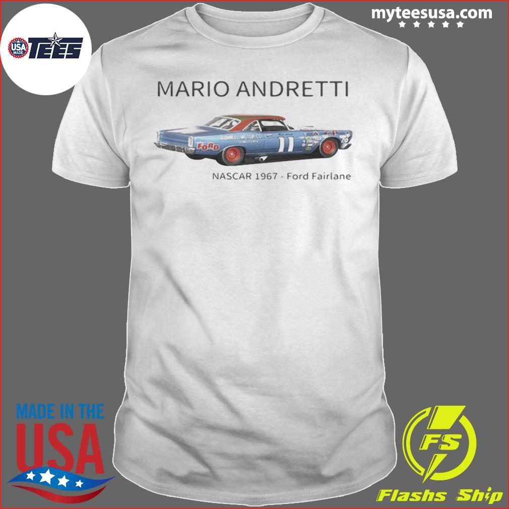 Mario andretti nascar 1967 ford fairlane shirt