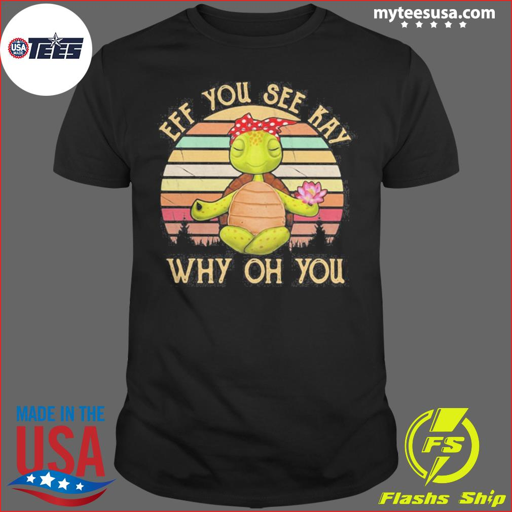 Turtle eff you see kay why oh you vintage retro shirt