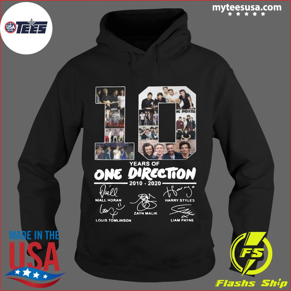 10 Years Of One Direction 2010 2020 Signatures Shirt Hoodie