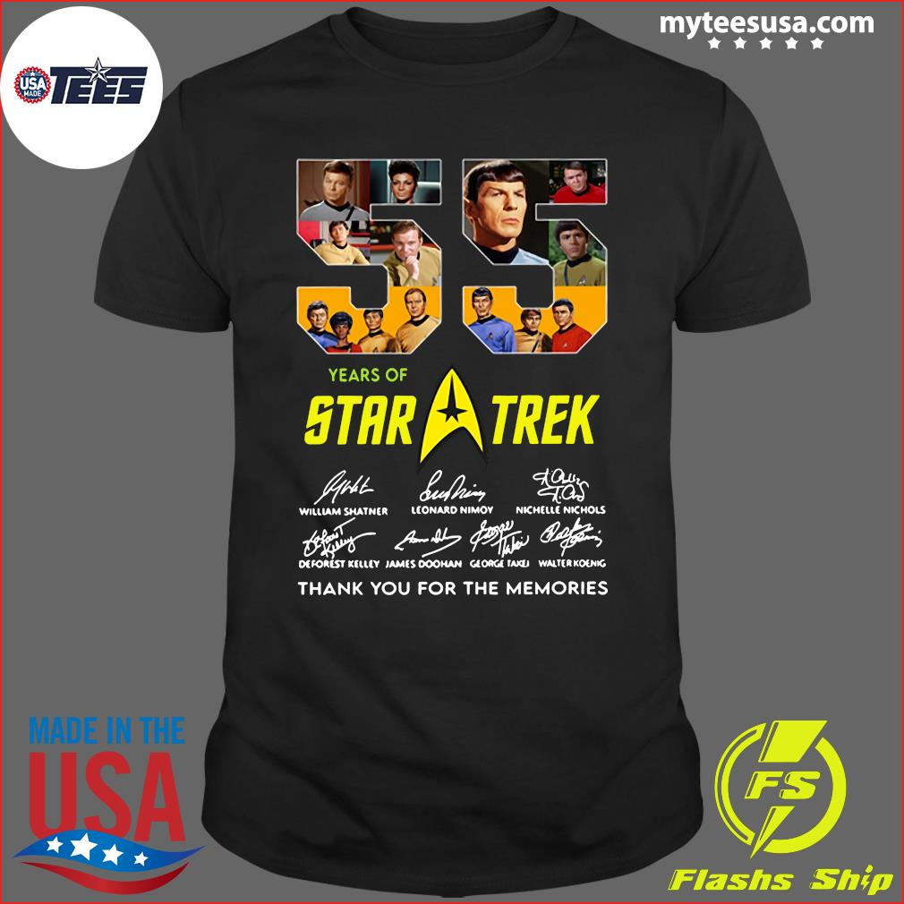 55 Years Of Star Trek Thank You For The Memories Signatures Shirt