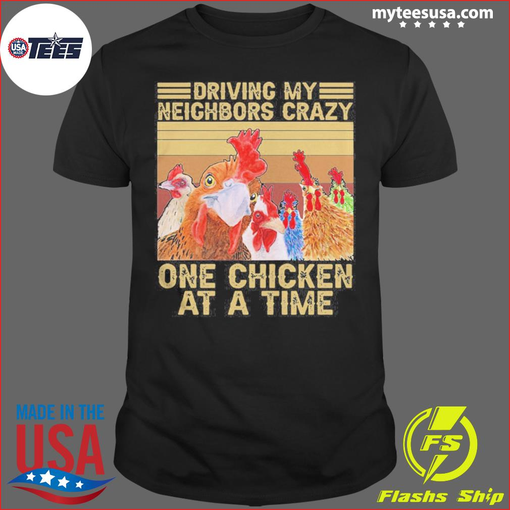 Driving My Neighbors Crazy One Chicken At A Time Face Mask Vintage Retro shirt
