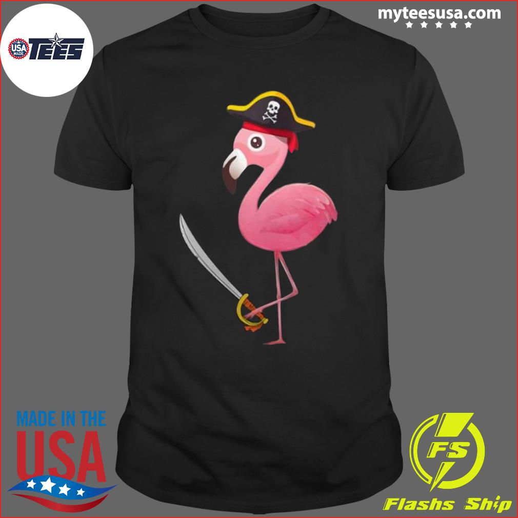 Funny Pirate Flamingo Shirt