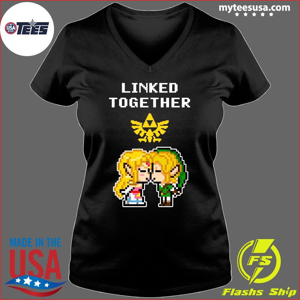 Linked Together Zelda X Link Shirt Ladies V-neck