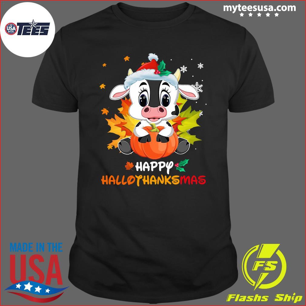 Baby Dairy Cow Happy Hallothanksmas T-Shirt