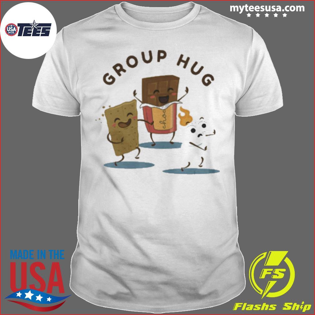 Camping S'mores Marshmallow Roasting Bonfire Funny Food Hug shirt