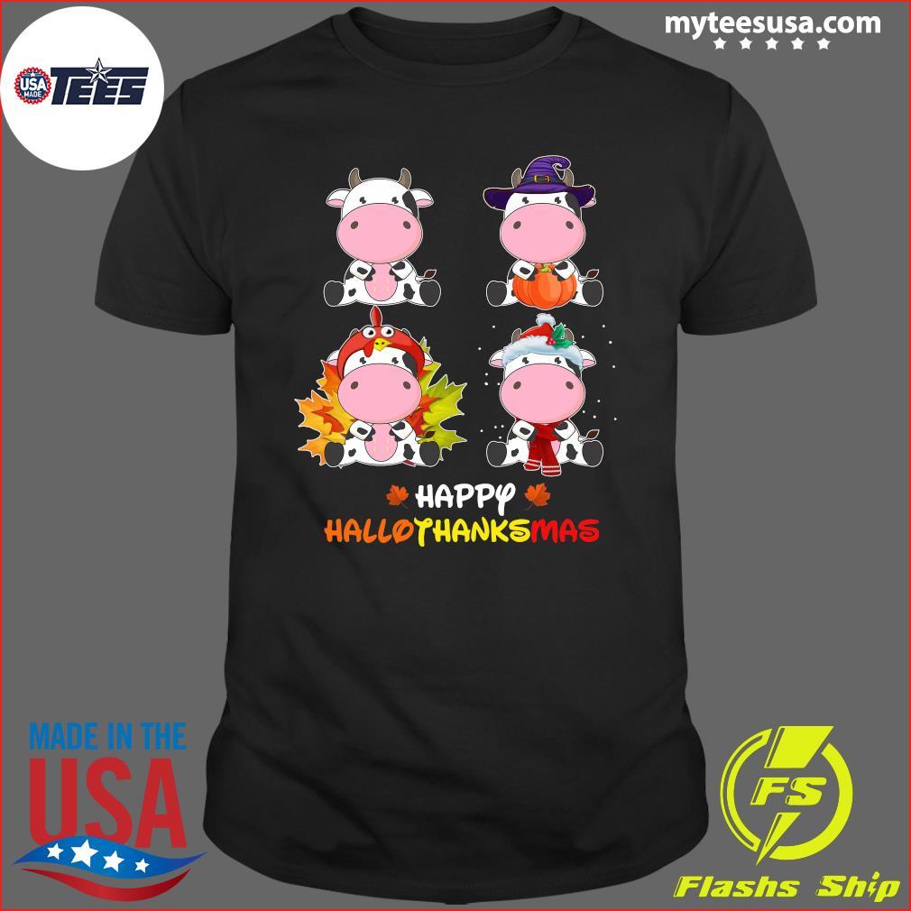 Cows Happy Hallothanksmas T-Shirt