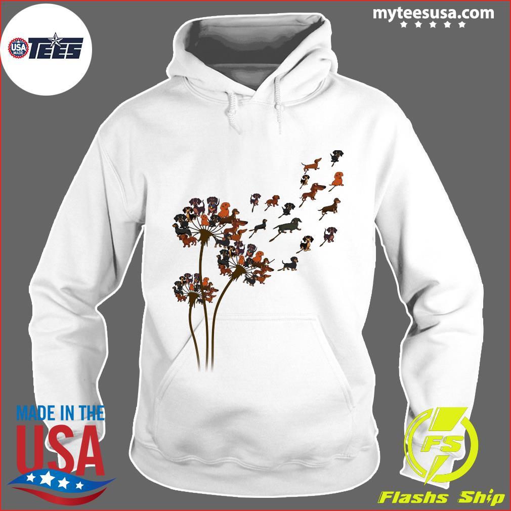 Dachshund Dandelion Flower T-Shirt Hoodie