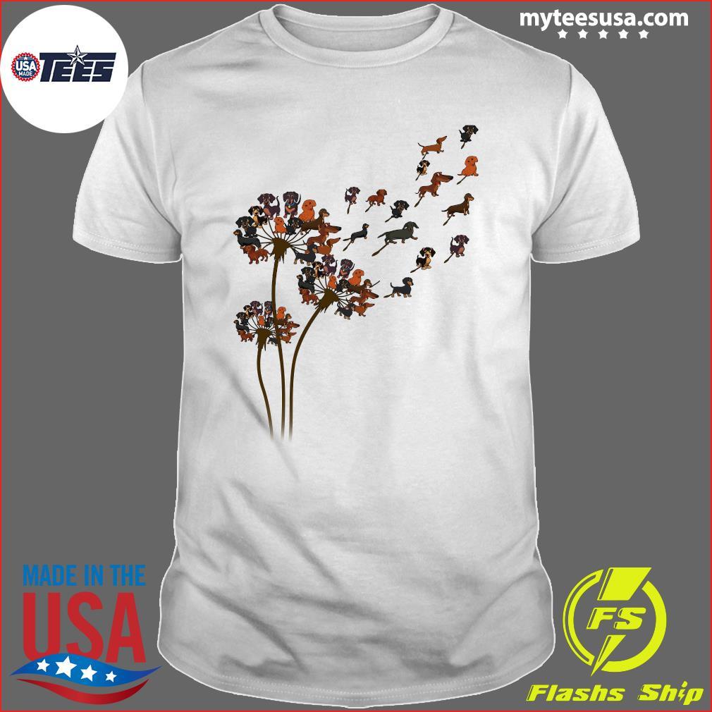 Dachshund Dandelion Flower T-Shirt