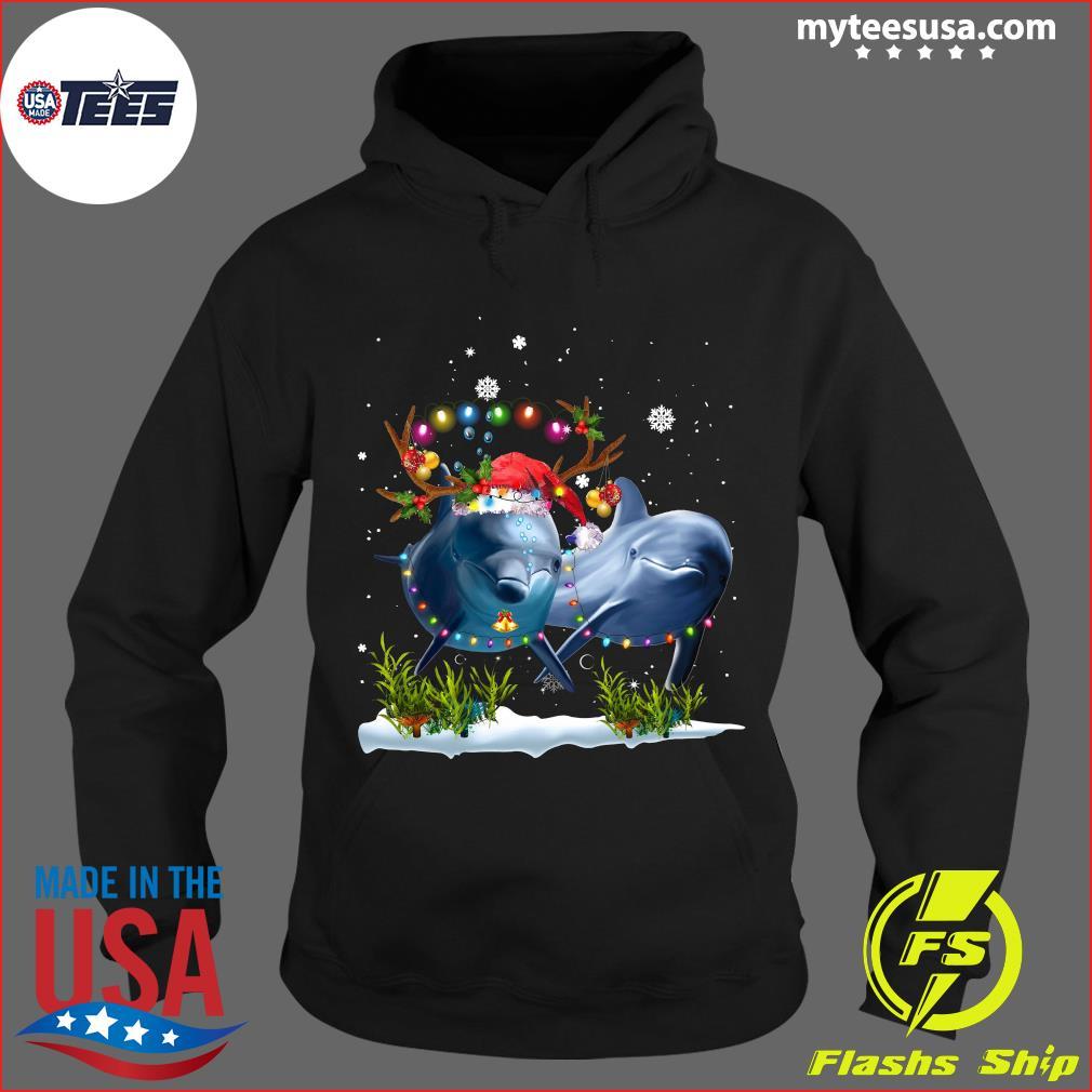 Dolphin Merry Christmas T-Shirt Hoodie