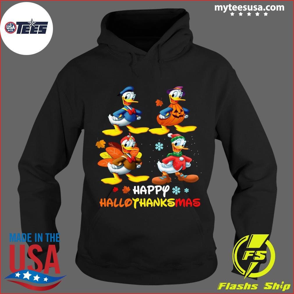 Donald Duck Happy Hallothanksmas T-Shirt Hoodie