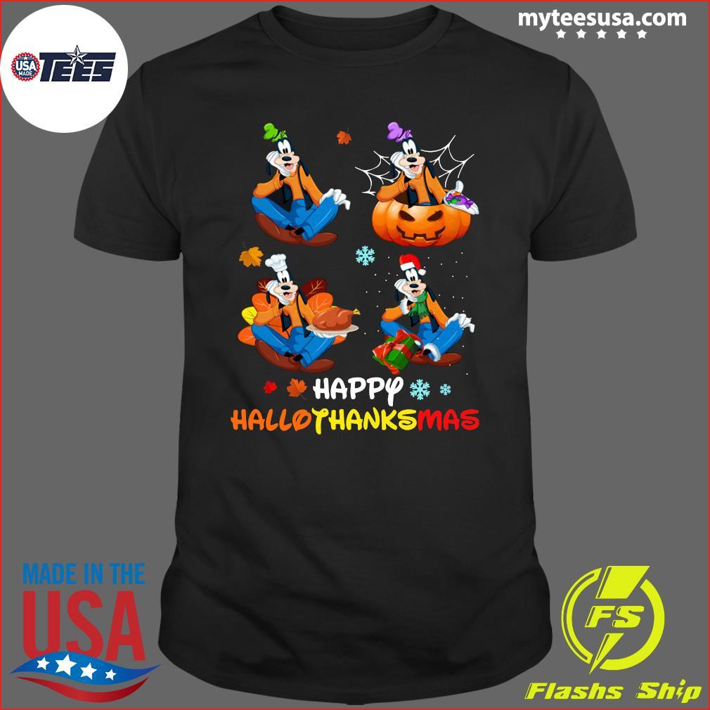 Goofy Happy Hallothanksmas T-Shirt