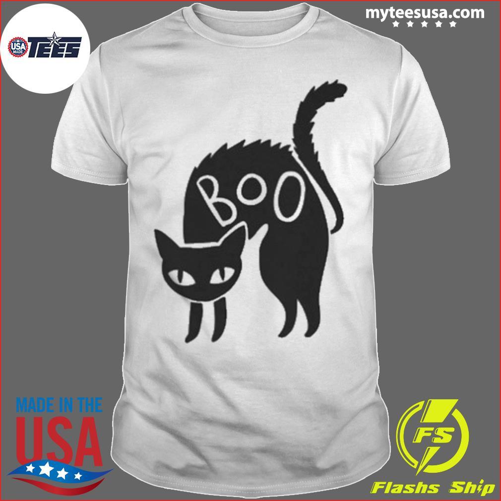 Halloween Black Cat Gift Spooky Boo Cat shirt