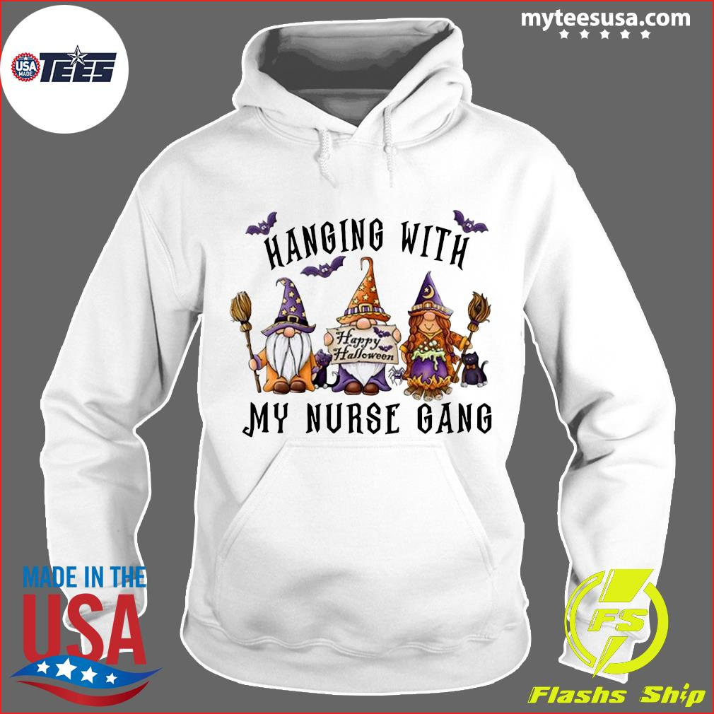 Hanging With My Nurse Gang Garden Gnomies Halloween Nurse 2020 Shirt Hoodie