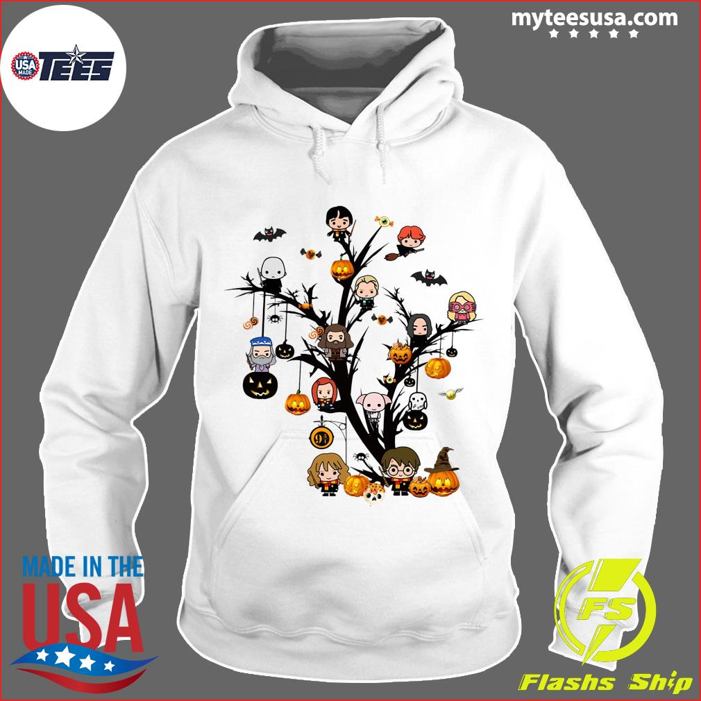 Harry Potter Chibi Character On Tree Halloween Shirt Hoodie