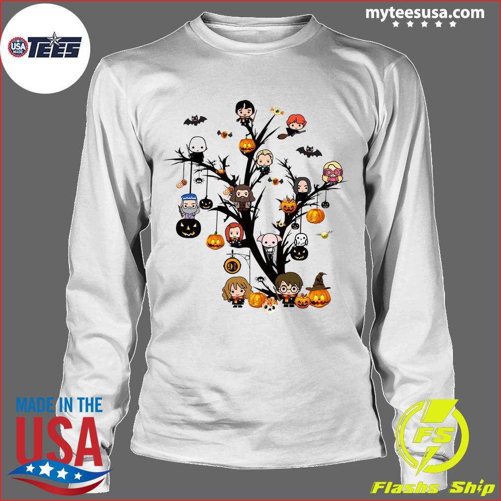 Harry Potter Chibi Character On Tree Halloween Shirt Longsleeve