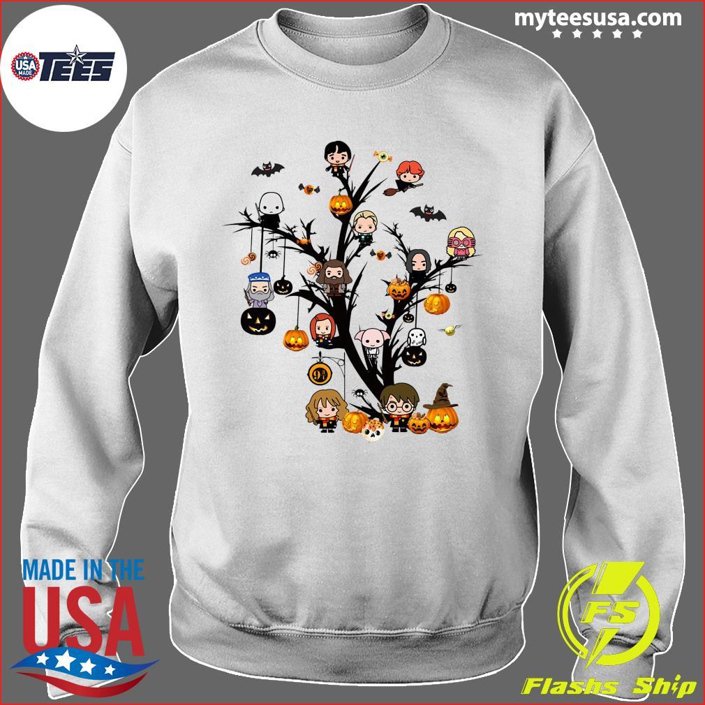 Harry Potter Chibi Character On Tree Halloween Shirt Sweater